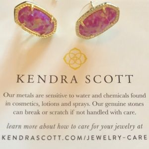 Kendra Scott Ellie Fuchsia Kyocera Opal Earrings